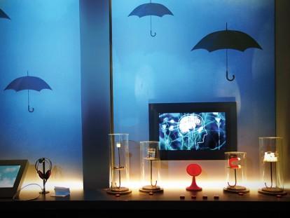 exposition cerveau à la Cité des sciences - scénographie scénorama